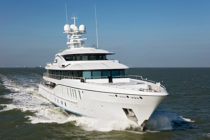 Freefall 73.5-metre superyacht enters sea trials