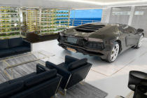 Superyacht concept will house Hypercars inside living space