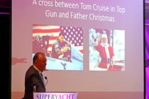 Tom Cruise and Father Christmas cross makes ideal helicopter pilot