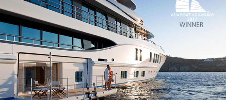 PLVS VLTRA wins 'Best Semi Custom Built Yacht'