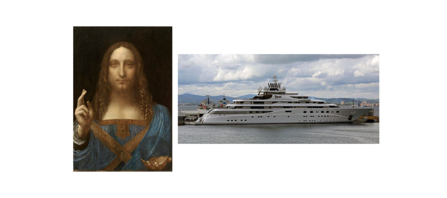 A large yacht for a small painting