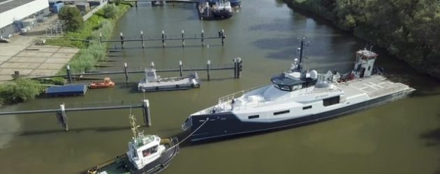 View from the bridge: Chase boat vs a larger yacht