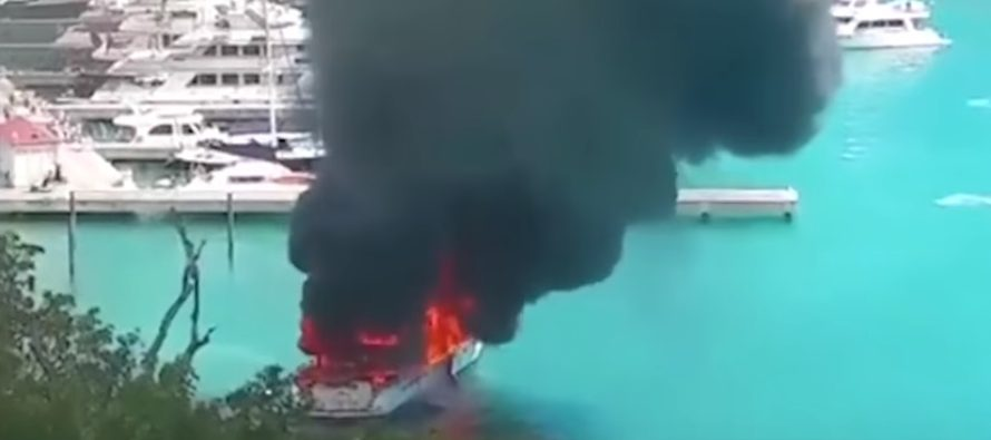 Positive Energy superyacht engulfed by inferno while in US Virgin Islands