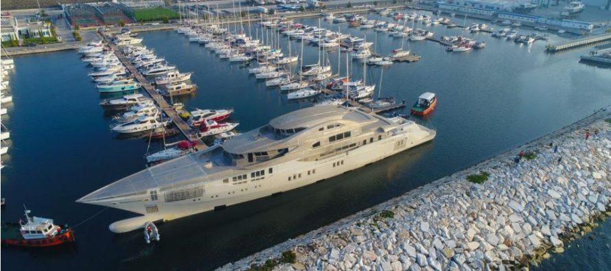 Bilgin launches new 80 metre megayacht hull