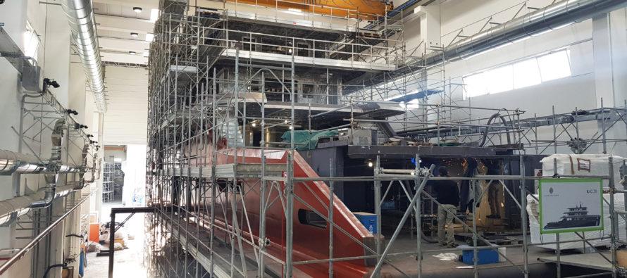 Construction underway on the Explorer K42
