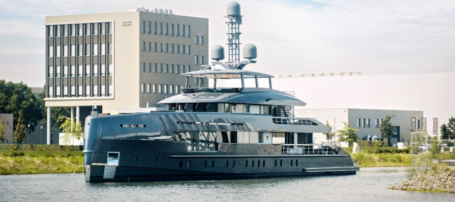 Superyacht Erica completes her North Sea trials