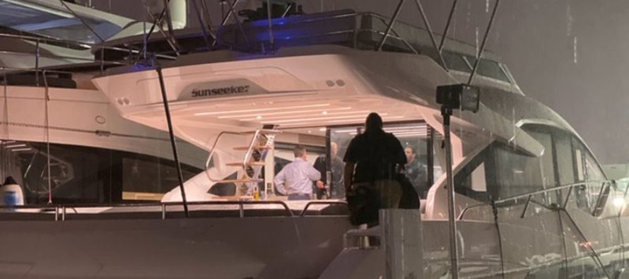Sunseeker yacht, worth $4m, impounded over legal row in Florida port