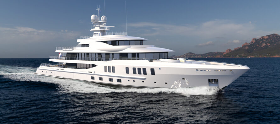 New 74m Amels 242 arrives in Holland