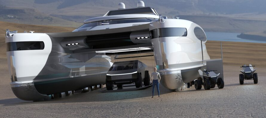 Pagarus the amphibious catamaran concept