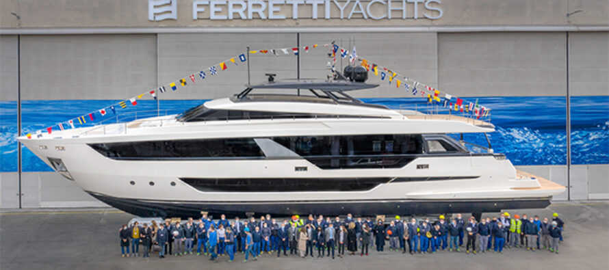 Ferretti Yachts 1000 launched: The largest ever built by the shipyard